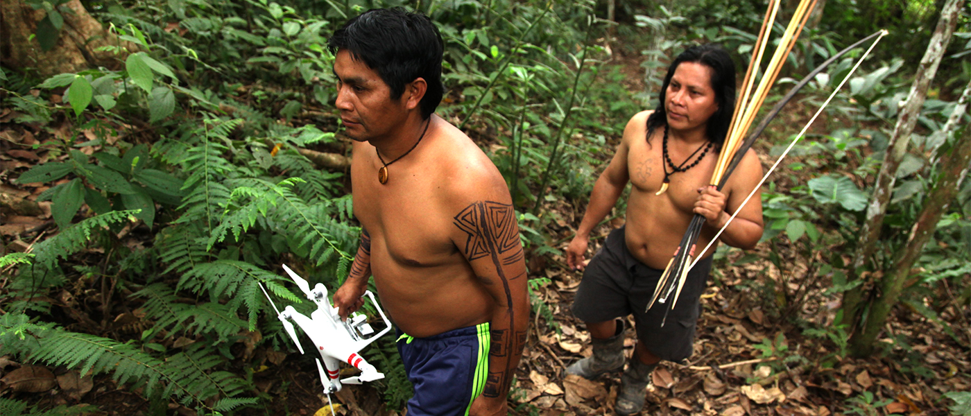 Indigenous communities protecting the Amazon from deforestation.