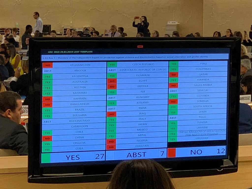 UN renews mandate IE/SOGI expert