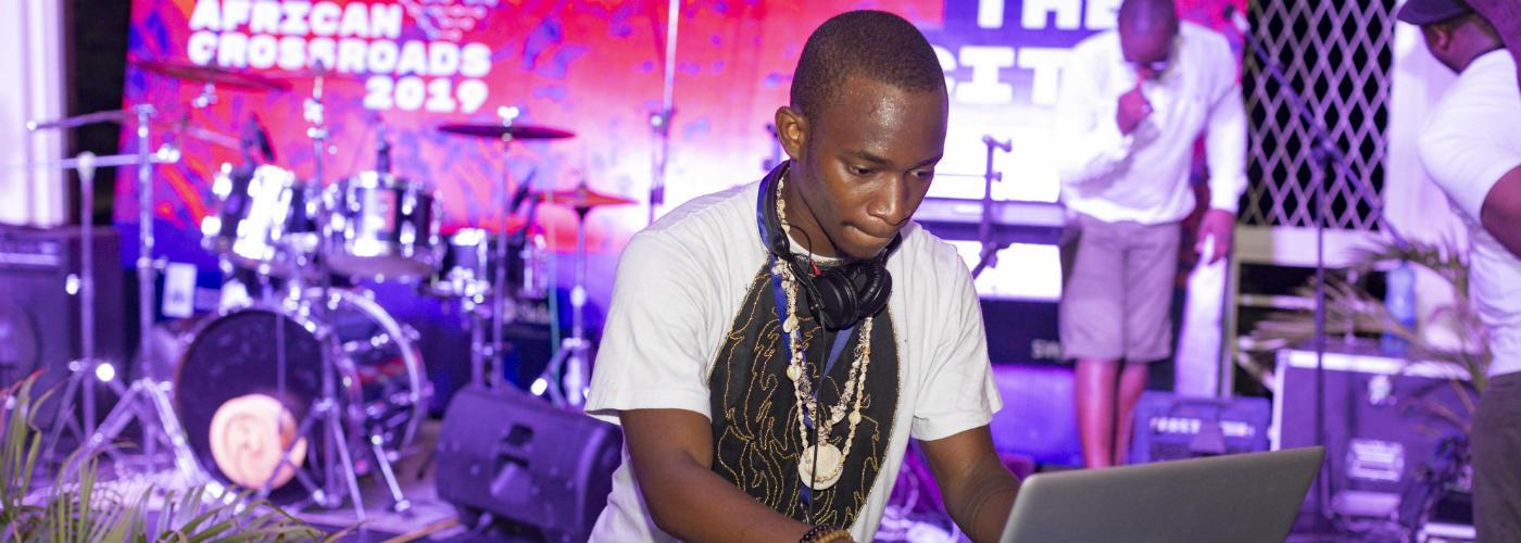 DJ performing at African Crossroads in Kenya
