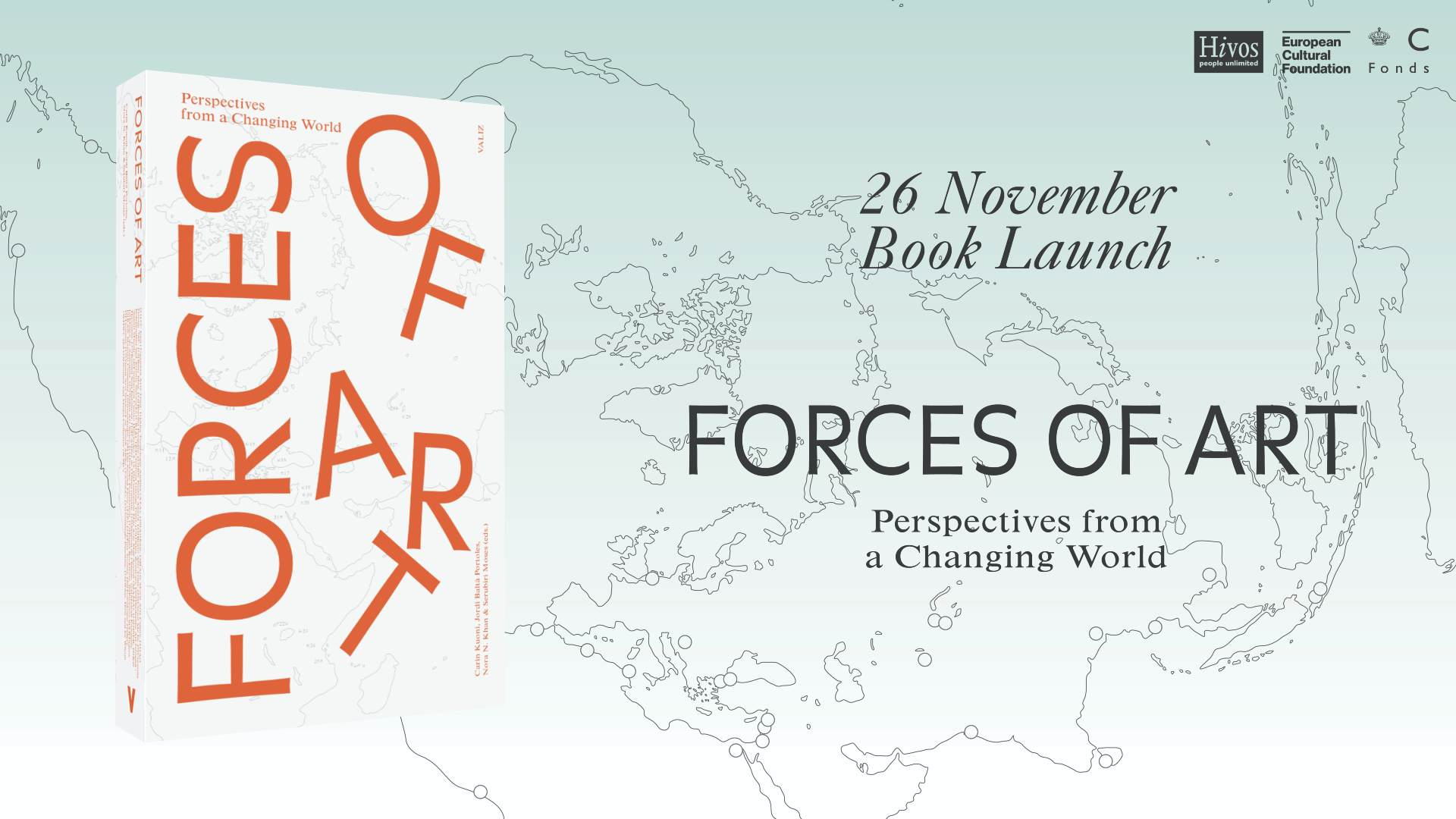 Forces of Art book launch flyer