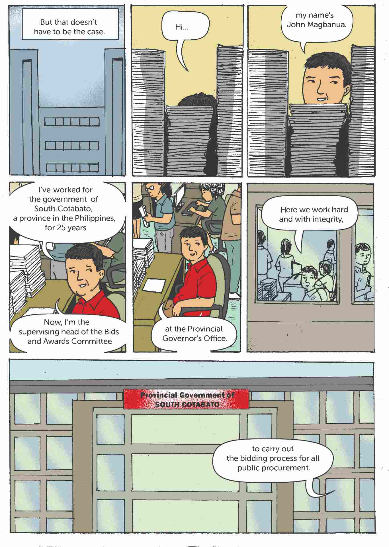 Comic strip about open contracting in the Philippines 2