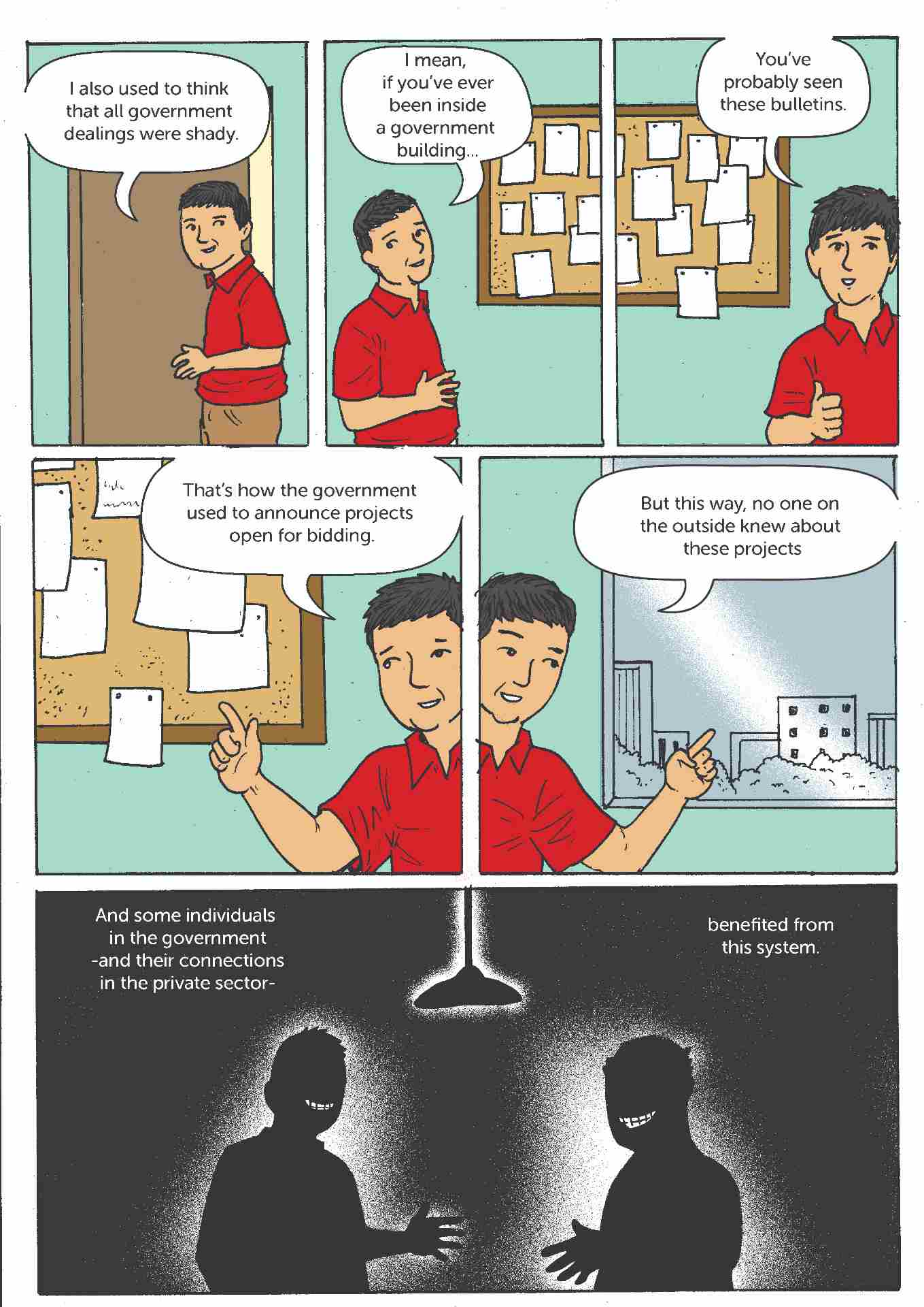 Comic strip about open contracting in the Philippines 3