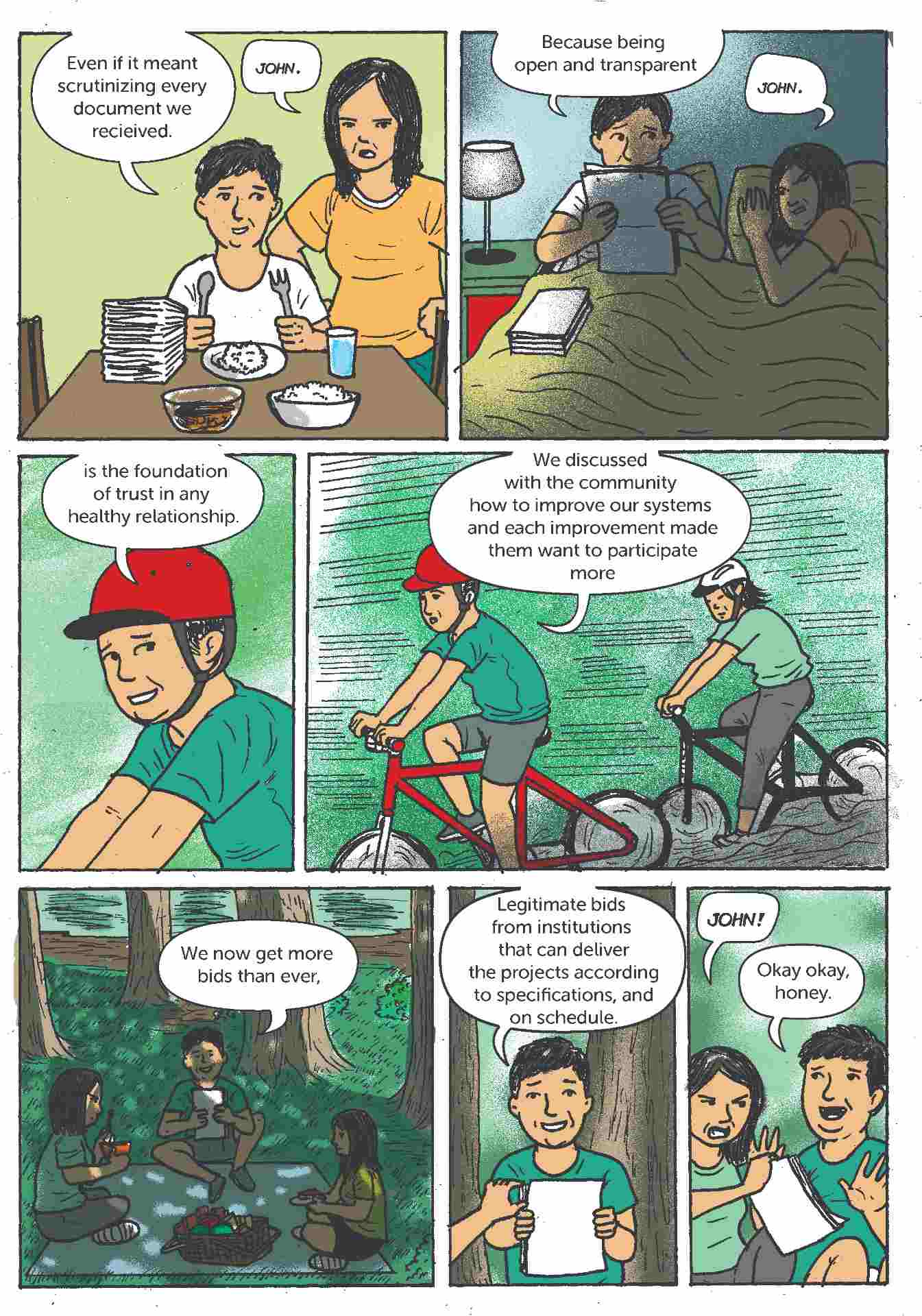 Comic strip about open contracting in the Philippines 5