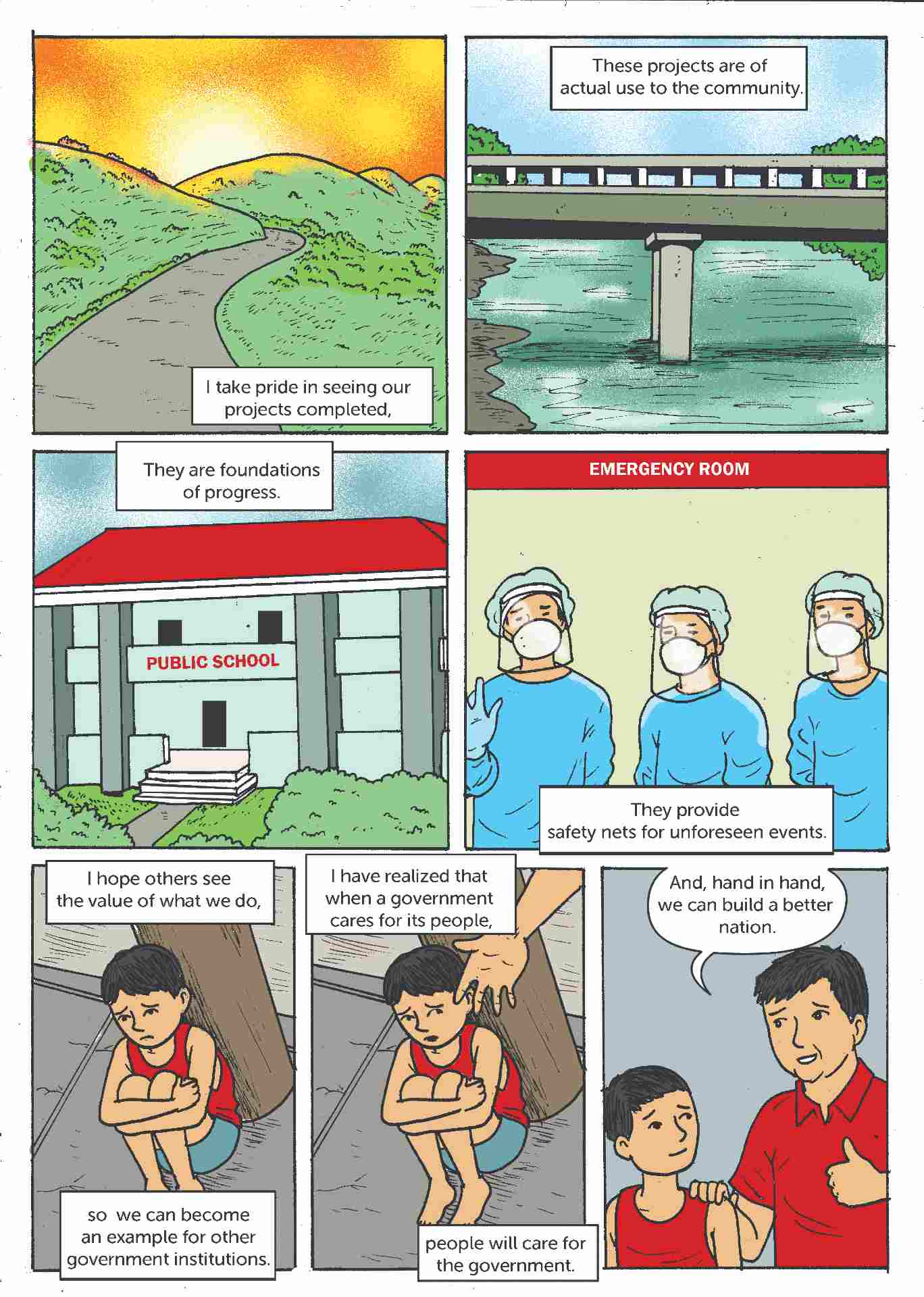 Comic strip about open contracting in the Philippines 6