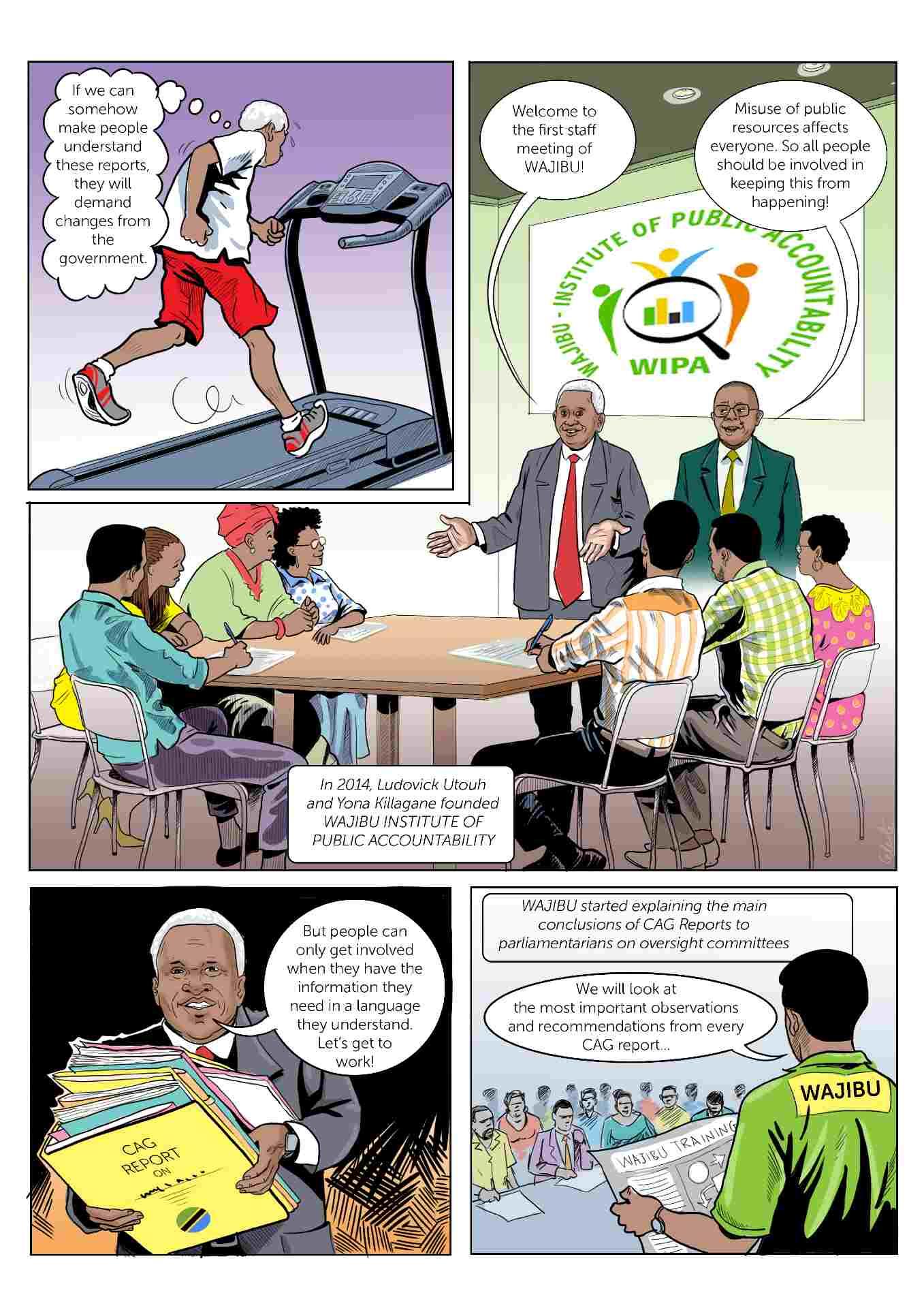 Comic strip about accountability in Tanzania slide 2