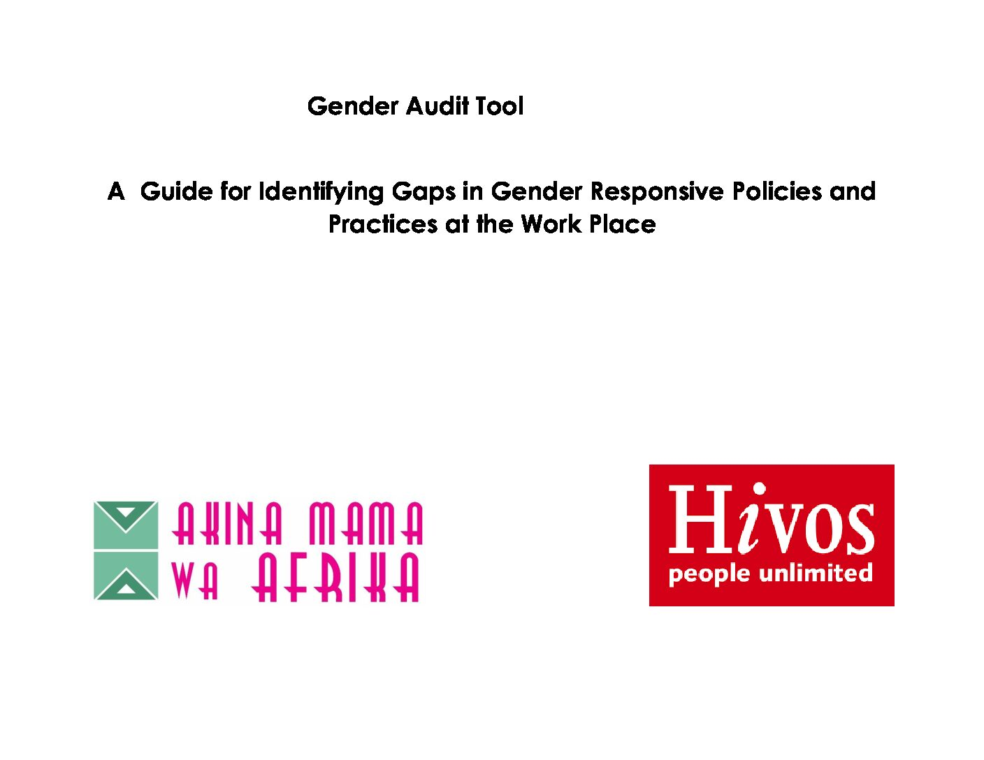Gender Audit Tool