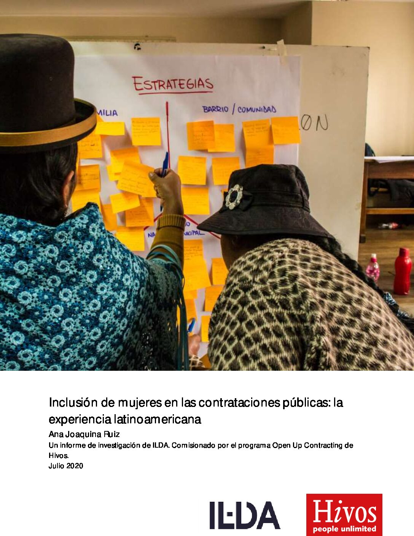 Inclusión de Mujeres en las Contrataciones Públicas