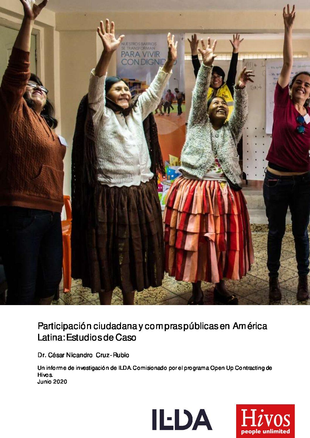 Participacion Ciudadana y Compras Publicas en America-Latina: Casos de Estudio