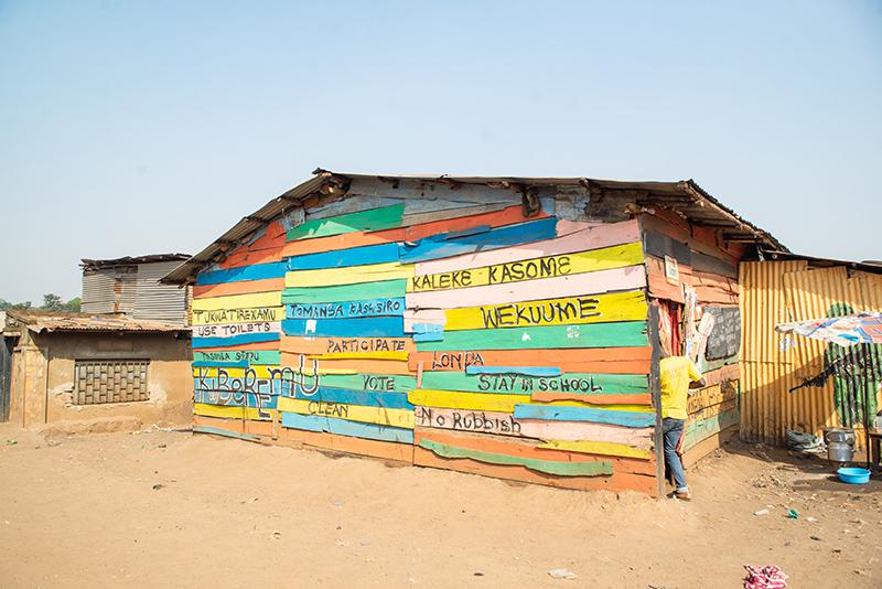 Data art in Kampala
