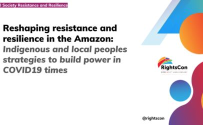 How to build power in the Amazon in COVID-19 times